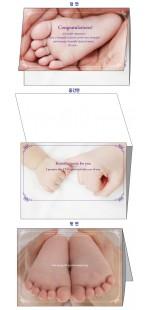 [baby-02]축하카드 + 음악 CD + 카드속에 들어가는 편지지