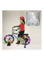 관절인형 자전거 탄 사람