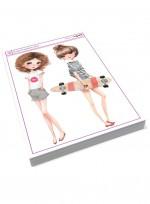 귀여운 소녀 패션 걸, 패션디자인, 패션일러스트, 아동 애니메이션, 수채화기법 미술교재